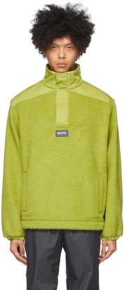 Martine Rose Green T-Crantock Fleece Zip Pullover