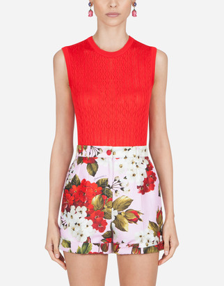 Dolce & Gabbana Sleeveless Sweater In Lace