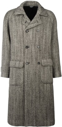 Dolce & Gabbana Herringbone Double-Breasted Coat