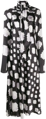 Marni Graphic Print Midi Dress