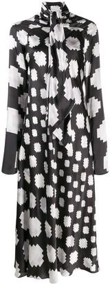 Marni graphic print midi dress