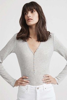 Witchery Ribbed Henley Top