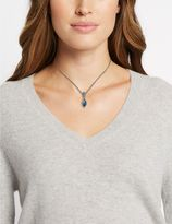Marks and Spencer Pavé Navette Drop Necklace MADE WITH SWAROVSKI® ELEMENTS