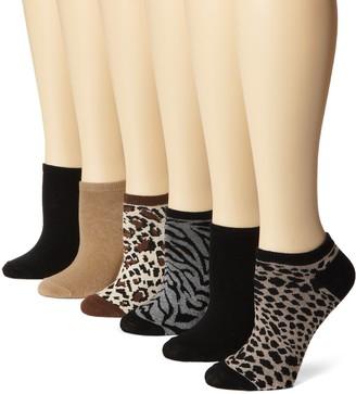 K. Bell Socks K. Bell Women's 6 Pack Novelty Crew Socks Heather Animal 9-11