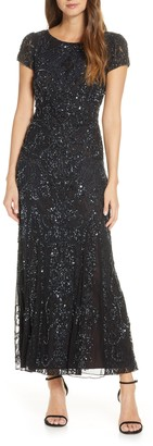 Pisarro Nights Embellished Lace Gown