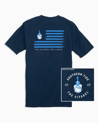 Southern Tide Citadel Bulldogs Flag T-Shirt