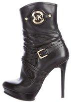 Michael Kors Leather Platform Boots