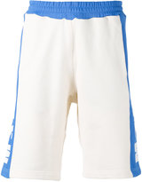 MSGM side-panel logo shorts - men - Cotton - L