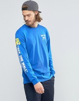 Vans 50th Reissue Ls T-shirt In Blue Va2yqqryl