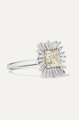 Suzanne Kalan 18-karat White Gold Diamond Ring - 6