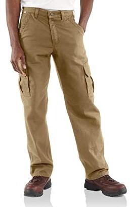 Carhartt Big Tall Flame-Resistant Canvas Cargo Pants (Dark Navy) Men's Casual Pants