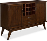 Kentler Mid Century Sideboard Buffet and Wine Rack, Quick Ship