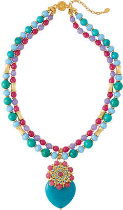 Jose & Maria Barrera Two-Strand Turquoise Pendant Necklace