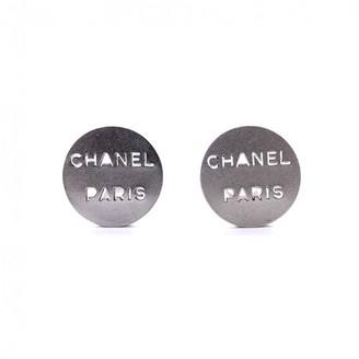 Chanel Metallic Metal Earrings