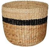 Threshold Black Stripe Sea Grass Basket