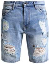 Tom Tailor Denim Denim Shorts Destroyed Light Stone