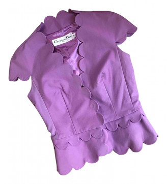 Christian Dior Purple Cotton Tops