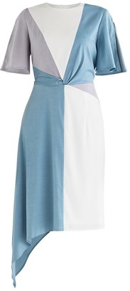 Paisie Dione Panel Dress In Blue
