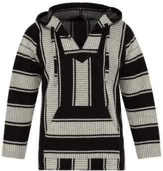 Alanui Baja Stripe Knit Hooded Sweater - Mens - Grey Multi