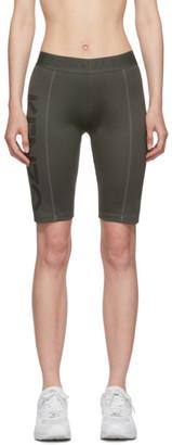 Kenzo Green Logo Sport Cyclist Shorts