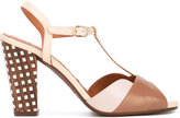 Chie Mihara checked heel sandals - women - Leather - 37