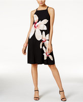 Alfani Petite Printed Halter Shift Dress, Only at Macy's