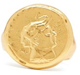 Dear Letterman - Ahdeem 22kt Gold Vermeil Ring - Mens - Gold