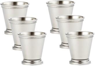 Elégance 90476/6 Beaded Mint Julep Cup Mini Set of 6