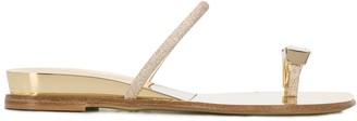 Casadei Glitter Toe Ring Sandals