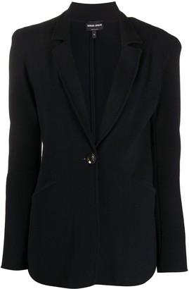 Giorgio Armani Textured One-Button Blazer