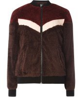 Dorothy Perkins Womens **First & I Fluffy Bomber Jacket- Red