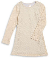 Sally Miller Girls 7-16 Metallic Crocheted Dress