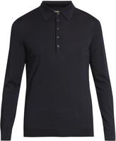 Bottega Veneta Long-sleeved wool polo shirt