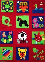 Pretty Wonderful Patchwork Travel Playmat - BERRY RED