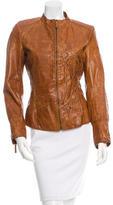 Roberto Cavalli Structured Leather Jacket