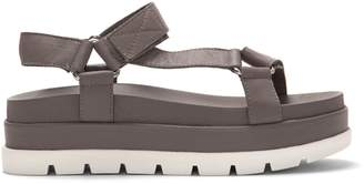 J/Slides NYC Blakey Leather Ankle-Strap Platform Sandals