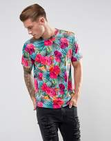 Jaded London T-Shirt In Hawaiian Print