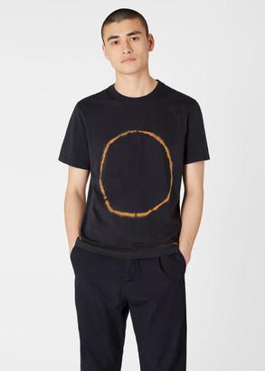 Paul Smith Men's Dark Navy Tie-Dye Circle T-Shirt