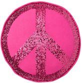 Sparkle Peace Pillows, Pink Magenta Peace