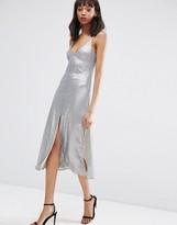 Asos Design NIGHT Embellished Metal Sequin Cami Midi Dress