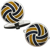 Jan Leslie Enameled Pinwheel Cuff Links, Navy/Yellow