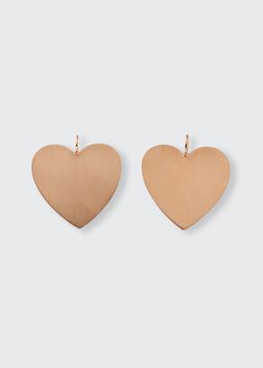 Irene Neuwirth 18k Rose Gold Large Heart Earrings