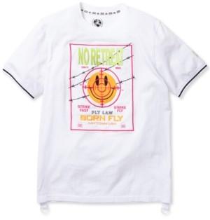 Fly London Born Men's Big & Tall Slim-Fit Embroidered No Retreat Strike T-Shirt