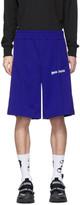 Palm Angels Blue Track Shorts