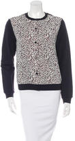 Carven Lace Overlay Knit Cardigan