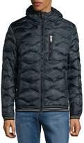 Jet Lag Jetlag Men's Hooded Puffer Jacket - Blue Camo, Size xx-large