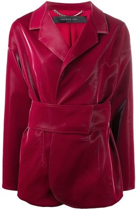FEDERICA TOSI Faux Leather Fitted Jacket