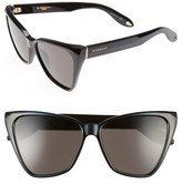 Givenchy 57mm Cat Eye Sunglasses