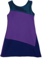 Zoë Ltd Preppy Perfect Colorblock Shift Dress, Purple, Size 4-6X