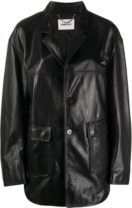 Ambush Oversized Leather Jacket
